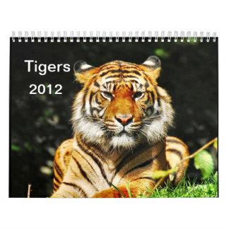 Tigers   2012 wall calendar