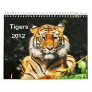 Tigers 2012 calendar