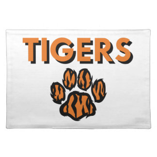 TIGERS AND PAW CLOTH PLACE MAT