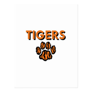 TIGERS AND PAW POSTCARD