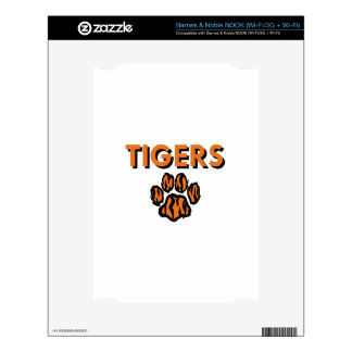 TIGERS AND PAW DECALS FOR THE NOOK