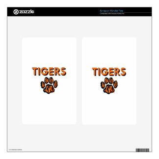 TIGERS AND PAW KINDLE FIRE DECAL