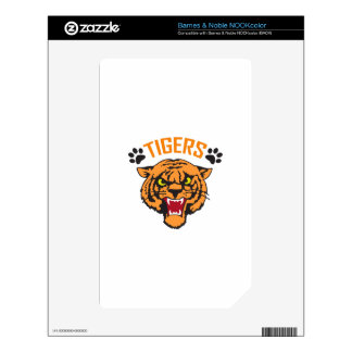 TIGERS AND PAWPRINTS DECAL FOR NOOK COLOR