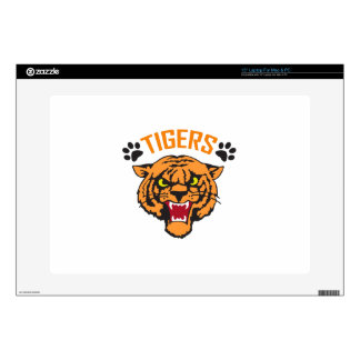 TIGERS AND PAWPRINTS DECAL FOR LAPTOP