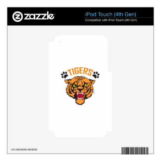 TIGERS AND PAWPRINTS iPod TOUCH 4G DECALS
