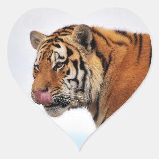 Tigers appetite heart sticker
