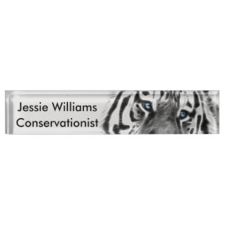 Tigers beauty desk name plate