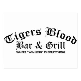 Tigers Blood Bar & Grill Postcard