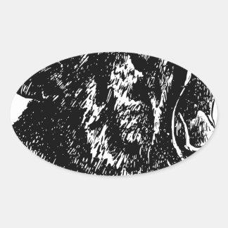 Tiger's Blood Oval Sticker