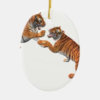 Tiger's Challenge Ceramic Ornament