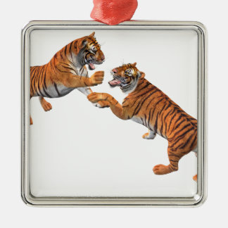 Tiger's Challenge Metal Ornament