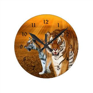 Tigers Round Wallclock