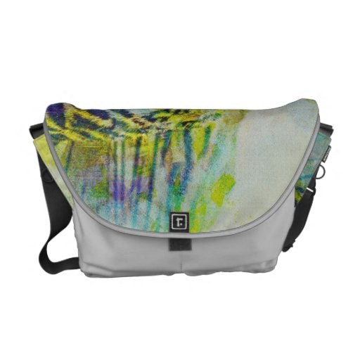 Tiger's color symphony in Costa Rica Messenger Bags