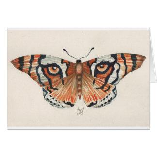 tiger's eye butterfly card