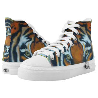 TIGER's EYE HIGH TOP SNEAKERS Printed Shoes