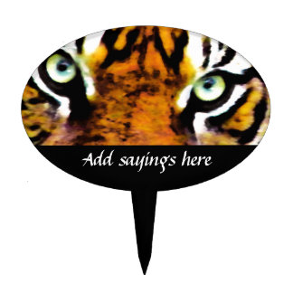 TIGER'S EYE'S_ CAKE TOPPER