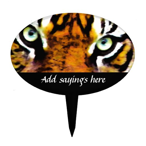 TIGER'S EYE'S_ OVAL CAKE TOPPERS