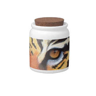 Tigers Eyes Storage Jar