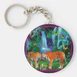 Tigers Fantasy Forest Keychain