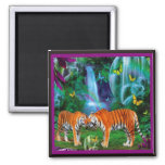 Tigers Fantasy Forest Magnet