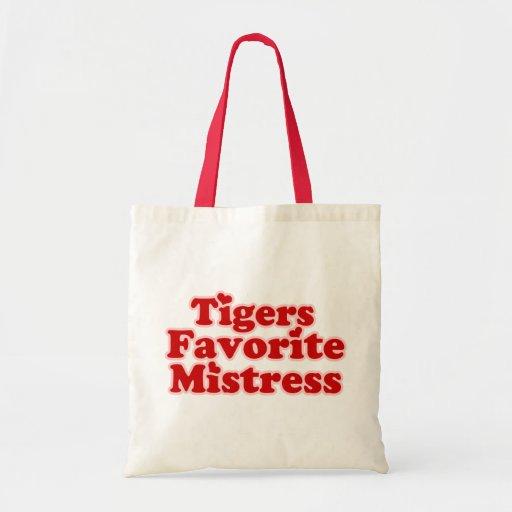 Tigers Favotire Mistress Womens funny Budget Tote Bag