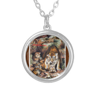 Tigers for Responsible Travel Silver Plated Necklace