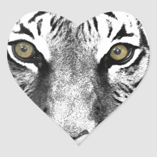 Tiger's Glare Heart Sticker