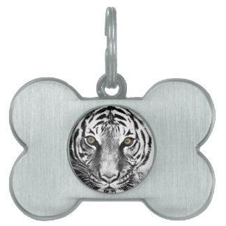 Tiger's Glare Pet Name Tag