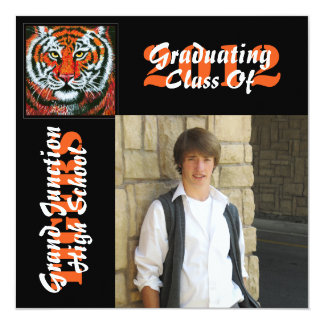 Tigers Graduation Announcement with photo
