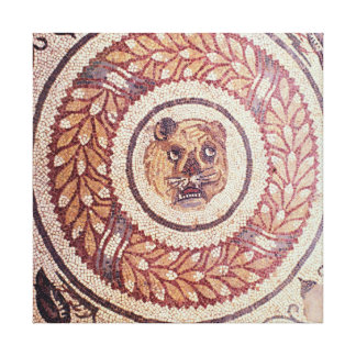 Tiger's head, Roman mosaic, early 4th century Canvas Print