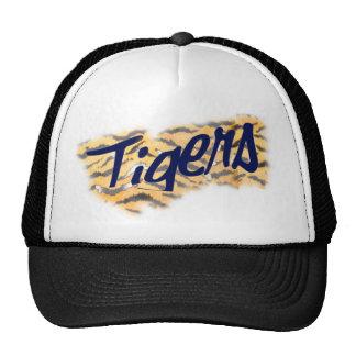 tigers head topper trucker hat
