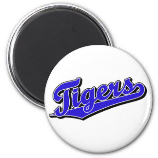 Tigers in Blue 2 Inch Round Magnet
