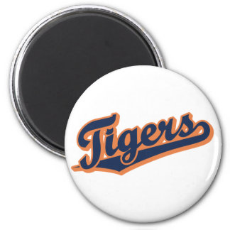 Tigers in Custom Colors 2 Inch Round Magnet