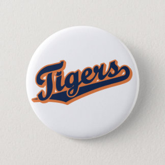 Tigers in Custom Colors Pinback Button
