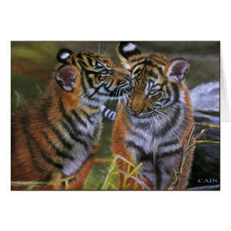 TIGERS IN LOVE CARD
