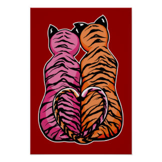 Tigers in Love Poster