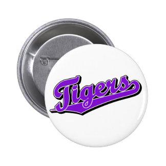 Tigers in Purple Pinback Button