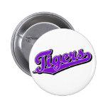 Tigers in Purple Pins