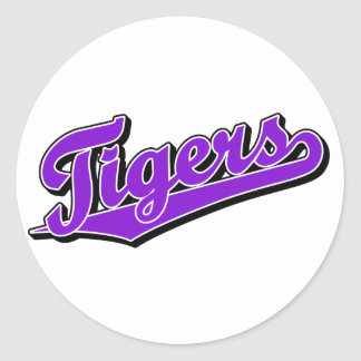 Tigers in Purple Stickers