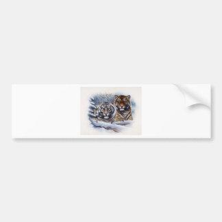 Tigers in the Mist Bumper Sticker