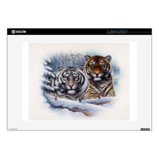 Tigers in the Mist Laptop Decal