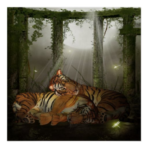 tigers in the ruinds i love you year of the tiger poster