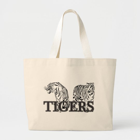 Tigers Large Tote Bag