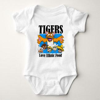 Tigers like Ethnic Food Baby Bodysuit