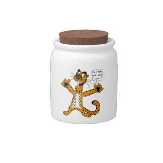 Tigers, Lions and Puns Candy Jar