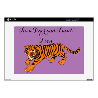"Tigers, Lions and Puns Decals For 15"" Laptops"