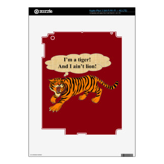 Tigers, Lions and Puns iPad 3 Skins