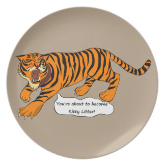 Tigers, Lions and Puns Melamine Plate
