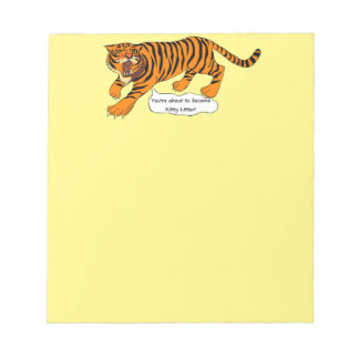 Tigers, Lions and Puns Memo Notepads