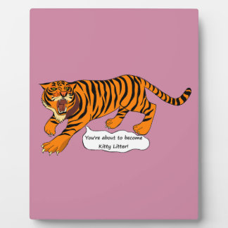 Tigers, Lions and Puns Plaque